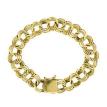 """8"""" Ladies 14K Yellow Gold Circle Link Bracelet - $1,840.41"""
