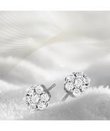 10k whiteGold 1/4-1/3 CT Lab Grown 7Stone Diamond Earing for women I1-JK... - $132.99