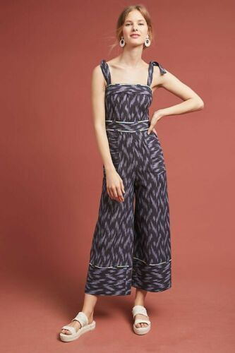 New Anthropologie Ikat Jumpsuit by ett:twa,  Retail  $158  Blue Size 4 image 1