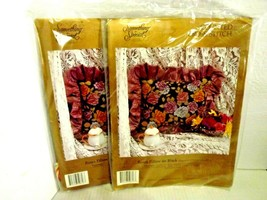 2 kits Candamar Roses Pillows on Black Counted Cross Stitch Something Special - $25.49
