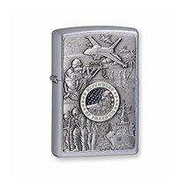 Zippo Defenders of Freedom Street Chrome Lighter - $49.01