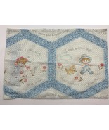 Vintage Small Baby Toddler Sized Pillowcase Nursery Rhyme Mary Had Littl... - $9.61