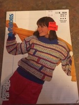 New Vtg Patons Knitting Pattern Women's Sweater Woolrich Chunky Parade 1986 8526 - $7.79