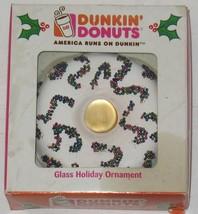 NIB Dunkin' Donuts Doughnut Kurt Adler Glass Christmas Ornament  - $17.82