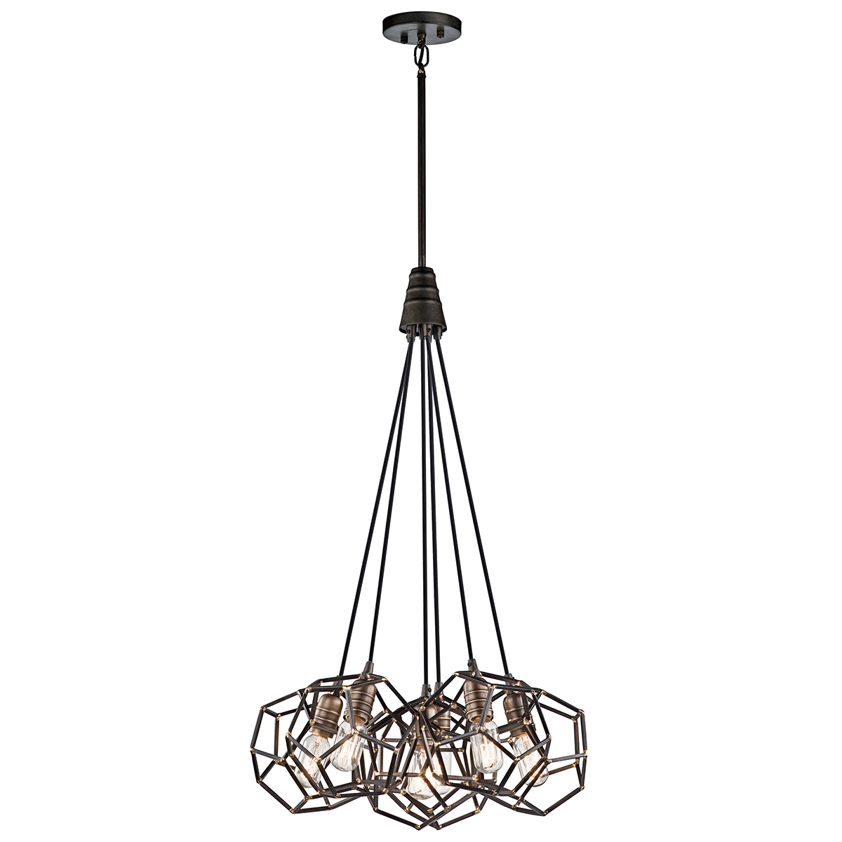 Primary image for Kichler 43718RS Rocklyn Pendants 23in Raw Steel STEEL 6-light