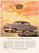 Vintage 1952 Magazine Ad Cadillac New Goal For Twenty Million Motorists - $5.93