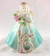 Josef Originals Vintage Birthday Girl Sweet Sixteen Angel Figurine  - $20.00