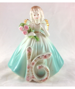 Josef Originals Vintage Birthday Girl Sweet Sixteen Angel Figurine  - $20.00