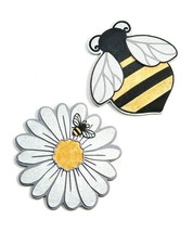 "Set of 2 - 10.6""  Bee & Daisy Themed Stepping Stone / Wall Plaques Polystone"