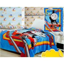 Thomas and Friends Plush Soft Silky coral fleece Blanket Throw Bedding 1... - $15.69
