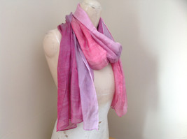 Pink Watercolor Fashion Scarf 68 inches long 24 inches wide image 2