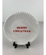 One Hundred 80 Melamine Party Plates White Merry Christmas Set of 4 - $98.99