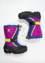 Sorel Childrens Flurry Snow Boot Girls Toddler 9 Waterproof Winter Grape... - £20.20 GBP