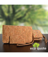 EcoQuote Long Wallet Wristlet Handmade Cork Eco Friendly Material For Vegan - $31.00