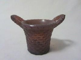 Boyd Art Glass Basket Toothpick Holder Purple Variant B In Diamond 1st Five Year - $8.99