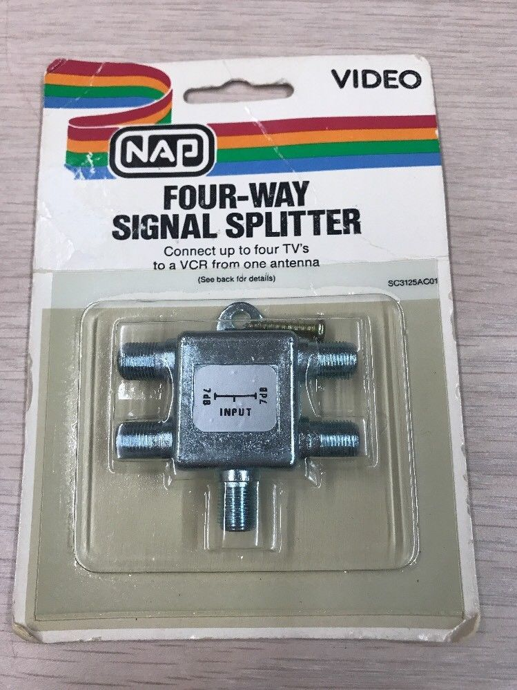 NAP Video Connector Four-Way Signal Splitter        L6