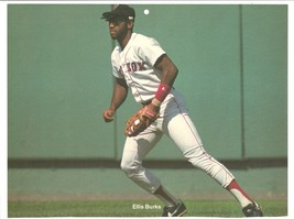 Boston Red Sox Ellis Burks 1989 Pinup Photo 8x10 - $1.75