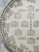 """VINTAGE 10"""" Porcelain Collector Plate 1957 CALENDAR 22 KT ADVERTISING GATELY'S image 2"""