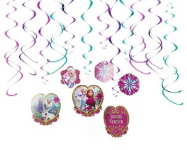 Frozen Foil Swirl - Birthday Party Needs Decoration (12 Pack) Multi Color  - $7.99