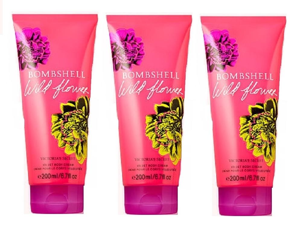 Victoria's Secret Bombshell Wildflower Velvet Body Cream 6.7 oz x3 - $38.99