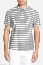 NWT $148 Jack Spade Beale Polo Short Sleeve Shirt in Greystripe sz XS - $34.64