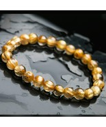 7mm Natural Gold Rutilated Quartz Crystal Woman Man Wealthy Stone Titani... - $64.92