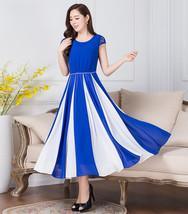 Temperament Elegant Women Ladies Short Sleeved Bohemian Chiffon Long Dress - $39.50