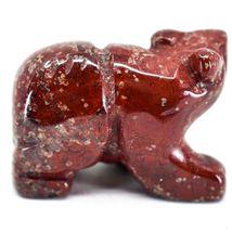 Rainbow Jasper Gemstone Tiny Miniature Bear Figurine Hand Carved in China image 4