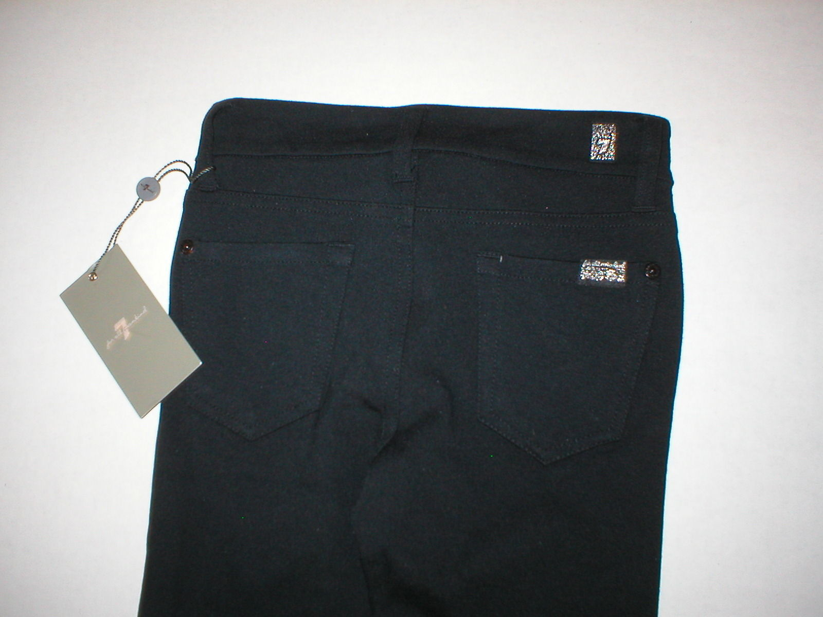 New Girls Jeans The Skinny 7 for all mankind 12 NWT Leggings Black Pants Rayon