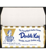 Vintage box DOUBLE KAY Assorted Nuts woman pictured Kelling IL NJ CA unu... - $9.99