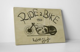 """Ride 2 Bike Motorcycle Pop Art Gallery Wrapped Canvas Print. 30""""x20 or 20""""x16"""" - $42.52+"""