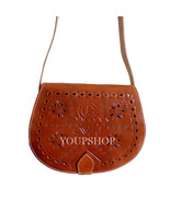 Moroccan Genuine Leather Berber Boho Shoulder Bag, Handmade Crossbody Bag  - $44.95