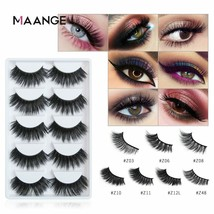 MAANGE® False Eyelashes Natural/Thick Long Fake Lashes Makeup 3d Mink 5P... - €3,40 EUR