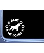 """Baby on Board American Bully Cropped L473 6"""" pitbull Sticker decal - $4.99"""