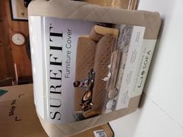 Non-Slip/Waterproof Sofa Furniture Protector Tan - Sure Fit - $29.42