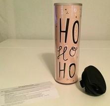 NEW With Tags STARBUCKS HOLIDAY TRAVEL MUG TUMBLER 16OZ PINK HO HO HO Ho... - $16.14