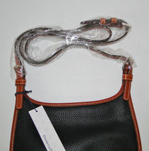 Dooney & Bourke Pebble Leather Black Saddle Crossbody image 8