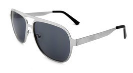 Zoo York Men's Aviator Sunglasses, Silver Frame, Smoke Lens, 52mm - $18.97