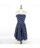 L - PINUP Couture NETTI Anchor Print Navy Rockabilly Fit & Flare Dress 0... - $75.00