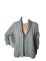 J. Crew Antique Fleece Womens Cardigan Sweatshirt Sweater Solid Gray Small - $26.46
