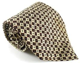 Gap Necktie Tie Silk Olive Green Maroon Squares Geometric Pattern - $4.94