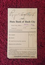 Set of 4: Bank of Rush City Bank Deposit Cards/Mailing Cards (1913) image 2