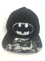 DC Comics Batman SnapBack Hat Black Graphics One Size Fits Most - $10.99