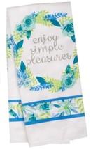 FLORAL Design KITCHEN SET 6pc Dish Towels Potholders Oven Mitt Blue Flower Enjoy image 7