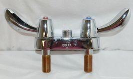 Delta 27C4842 Commercial Grade Deck Mount Two Handle Chrome Gooseneck Spout image 4