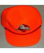 Hastings Island Hunting Preserve Bright Orange Adjustable Snap On Back C... - $9.39