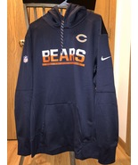 Nike Men's Chicago Bears Sideline Circuit Pullover Performance Hoodie XL... - $53.96