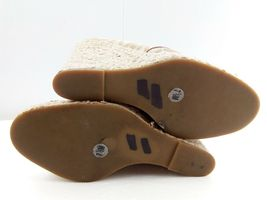 MICHAEL KORS Womens Wedges 7.5 Tan Cabana Peep Toe Platform Espadrilles $144 image 10