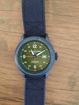 Chronologia Pilot Army Green NH35 Automatic Movement 45.5 mm Black Canva... - $95.00