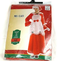 Mrs Claus Costume Dress Cap Apron Wig Adult OSFM One Size Fits Most - $38.67